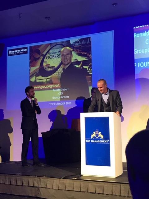 Ronald Gobert élu Young Entrepreneur Of The Year 2019