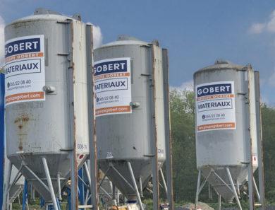 Pose de silos à mortier ou plâtre