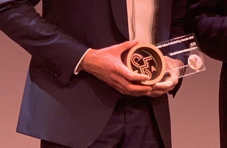Ronald Gobert reçoit le Trends Sales & Marketing Award 2019.